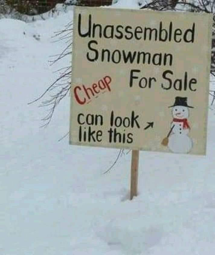 Unassembled Snowman for Sale
