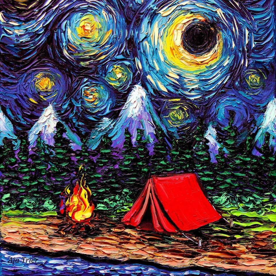 A Starry Camping Night
